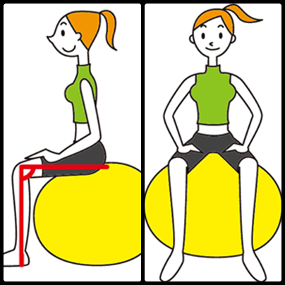 お腹痩せに効くバランスボールの使い方