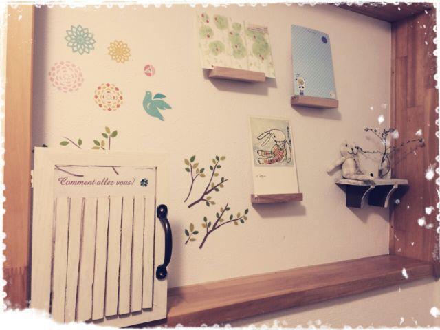 セリアで買ったものをリメイクしたりしたトイレ飾り