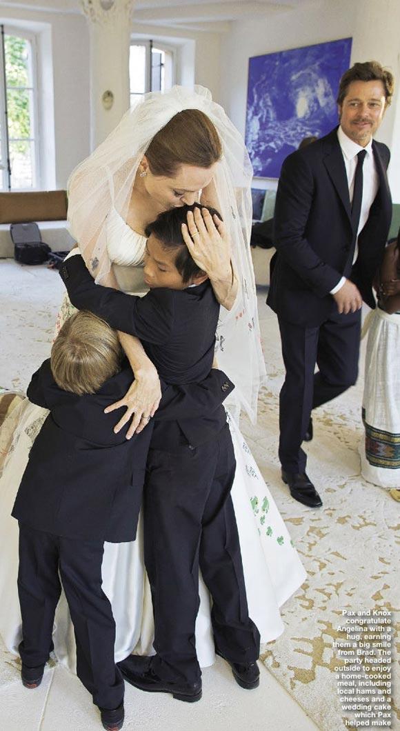 ブラピ・アンジェ、結婚式ショット
