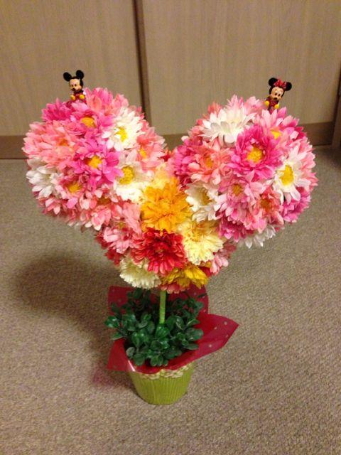 造花でミッキー 100均