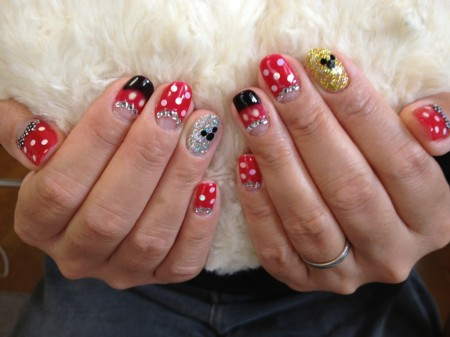 Disney nail photos of Japan3