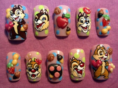 Disney nail photos of Japan4