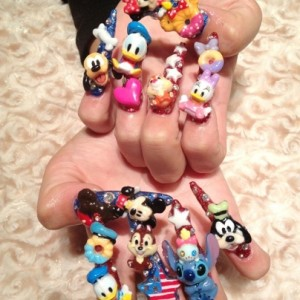 Disney nail photos of Japan