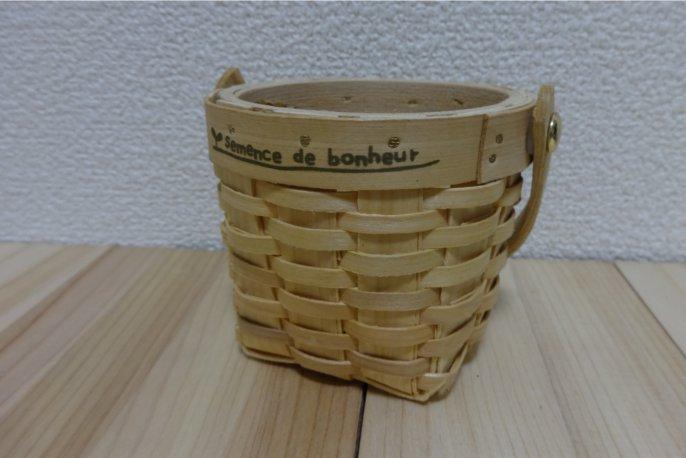 セリア・水杉編みプランター木ハンドル付