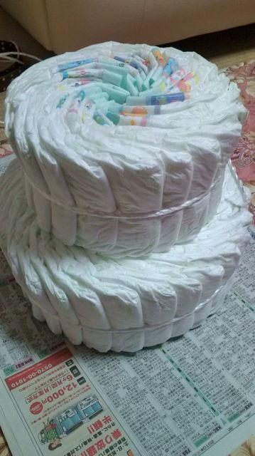 丸めないおむつケーキの作り方2