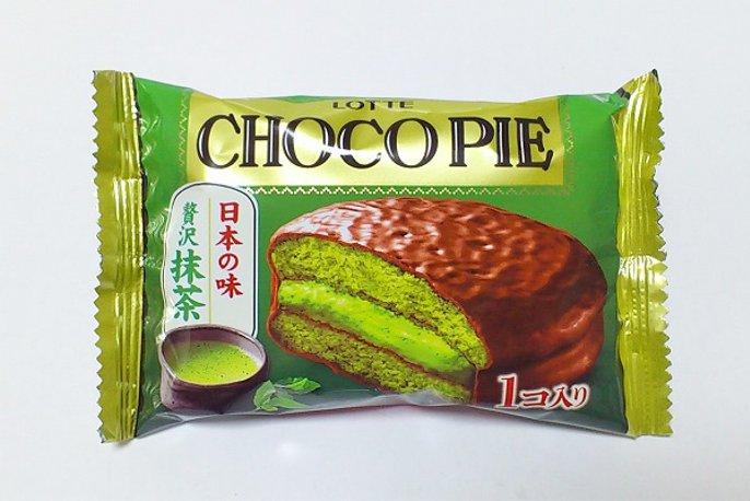 Lotte Choco Pie luxury Matcha