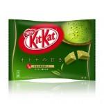 Sweets of popular green tea flavor in Japan