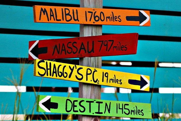 道案内の標識