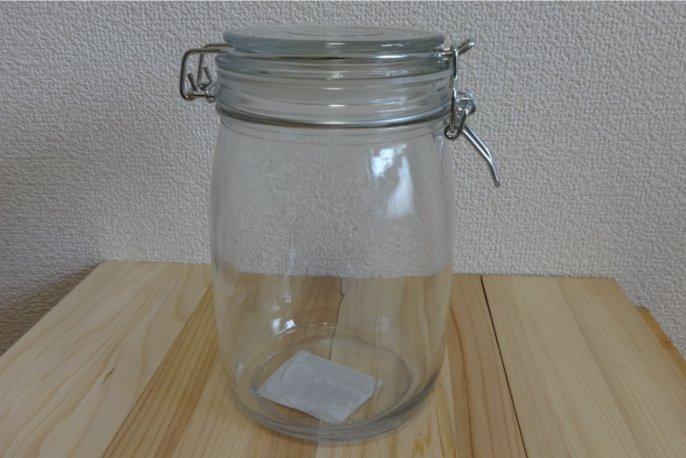 セリアの丸型保存瓶(大)