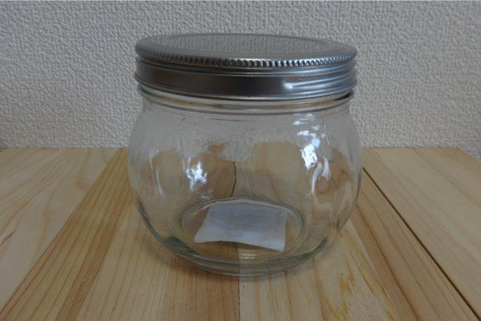 ミーツのガラス瓶 小 (ブリキ蓋)