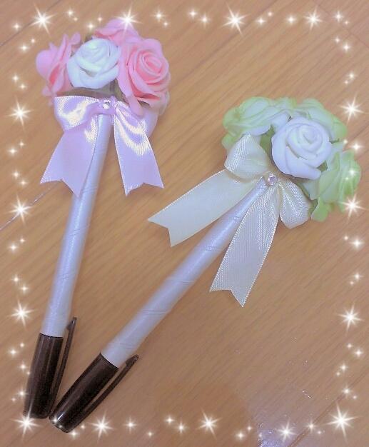 手作りフラワーペン