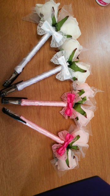 100均で作った結婚式受付用のペン