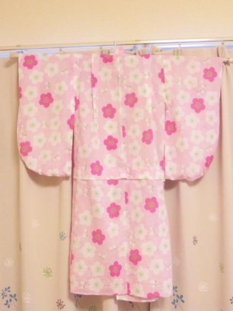 100均手作り浴衣