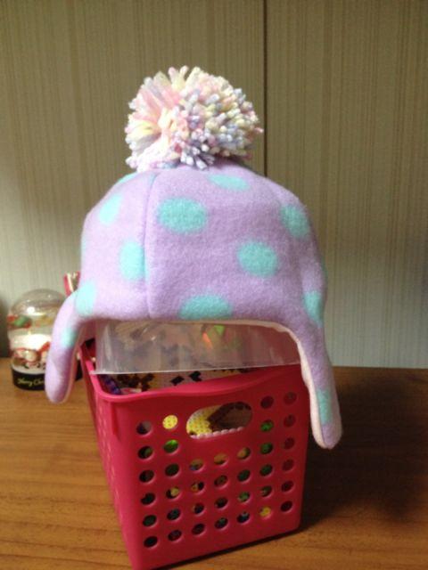 100均手作りベビー帽子