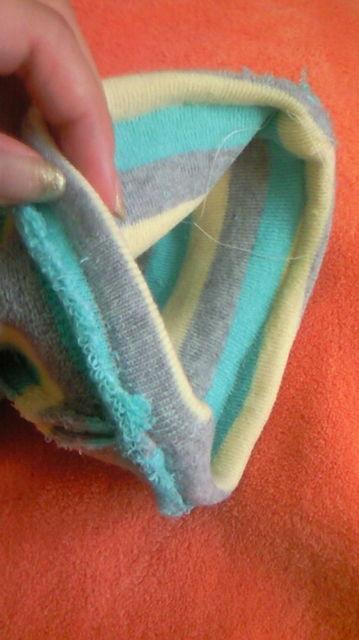 靴下ベビーレギンス作り方⑦