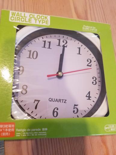 100均時計.お皿時計
