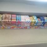 ラップの空箱で作るマスキングテープ収納BOX
