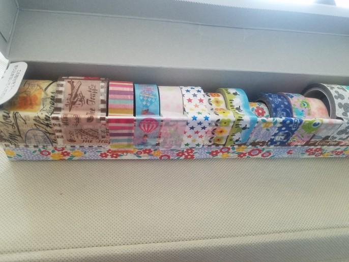ラップの空箱でマスキングテープ収納BOX
